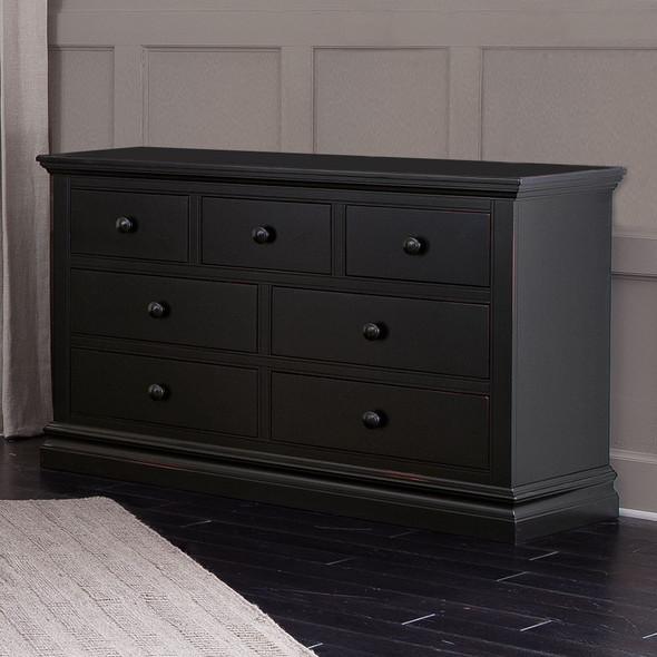 Westwood Pine Ridge 7 Drawer Dresser in Black