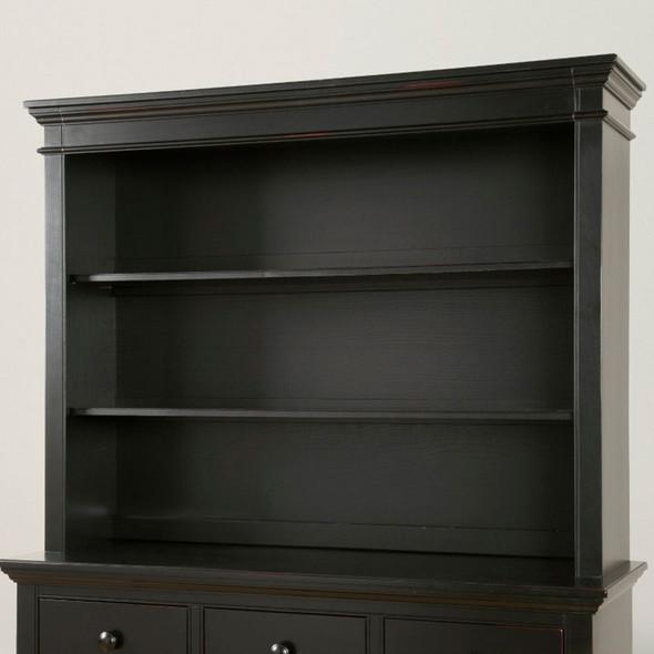 Westwood Pine Ridge Bookcase/Hutch in Black