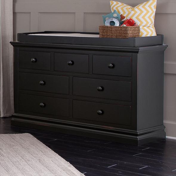 Westwood Stone Harbor 7 Drawer Dresser in Black