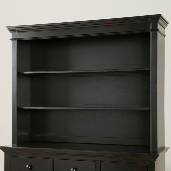 Westwood Stone Harbor Bookcase/Hutch in Black