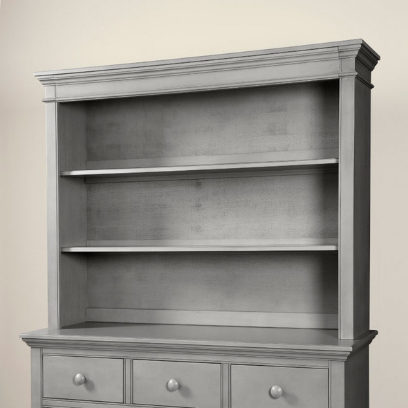 Westwood Stone Harbor Bookcase/Hutch in Cloud
