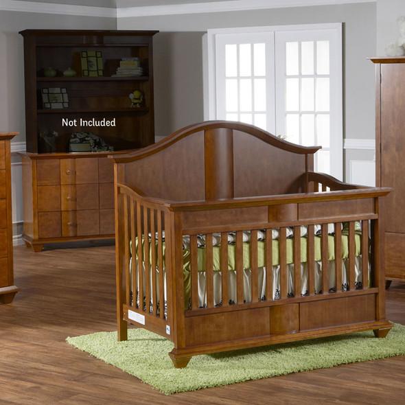 Pali Onda Collection 2 Piece Nursery Set in Walnut - Crib and Double Dresser