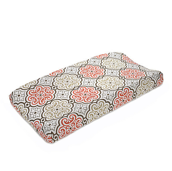Liz and Roo Garden Gate Contoured Changing Pad Cover