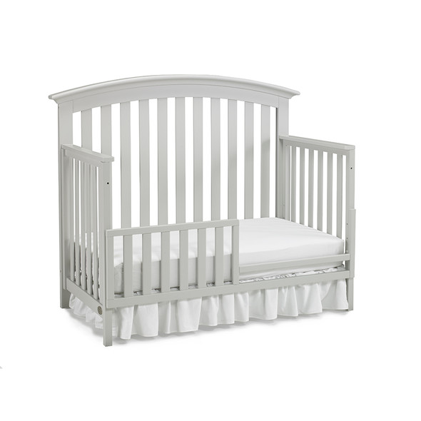 Ti Amo Baci Convertible Crib in Misty Grey