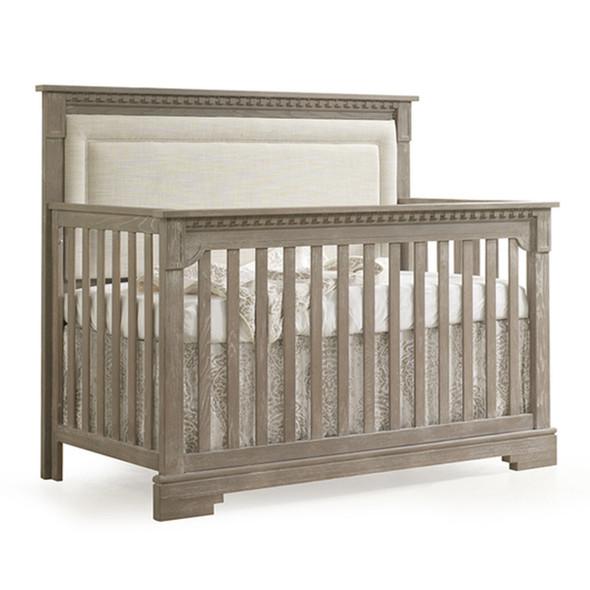 Natart Ithaca 2 Piece Nursery Set in Sugar/Talc-Crib and Double Dresser
