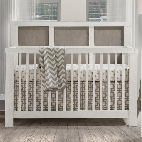 Natart Rustico Moderno Collection 4 in 1 Convertible Crib in White and Owl