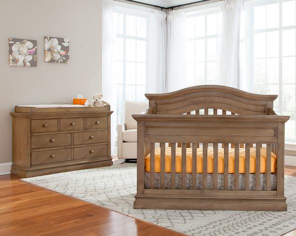 Westwood Stone Harbor 2 Piece Nursery Set - Crib and Double Dresser in Cashew