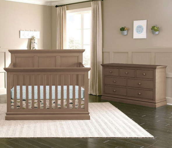 Westwood Pine Ridge 2 Piece Nursery Set - Crib and Double Dresser in Cashew