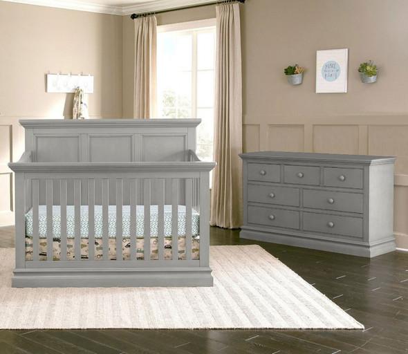 Westwood Pine Ridge 2 Piece Nursery Set - Crib and Double Dresser in Cloud