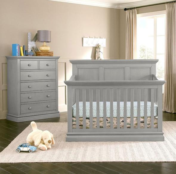 Westwood Pine Ridge 2 Piece Nursery Set - Crib and 5 Drawer Chest in Cloud