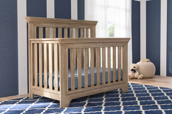 Serta Langley Convertible Crib in Rustic Whitewash
