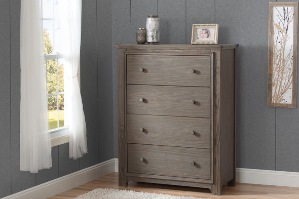 Serta Langley 4 Drawer Chest in Rustic Grey