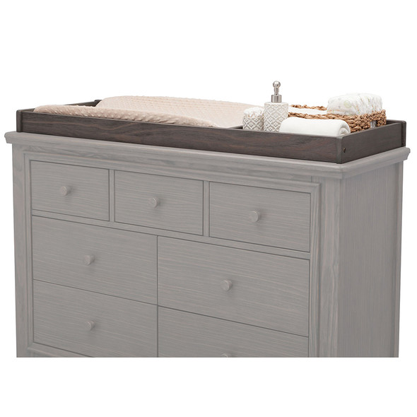 Serta Langley Changing Top in Rustic Grey