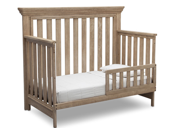 Serta Langley Toddler Rail in Rustic Whitewash