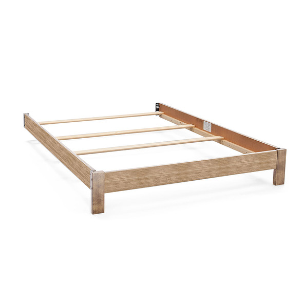Serta Platform Full Size Bed Kit in Rustic Whitewash