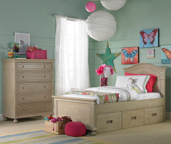 Dolce Babi Naples Twin Size Bed in Driftwood by Bivona & Company
