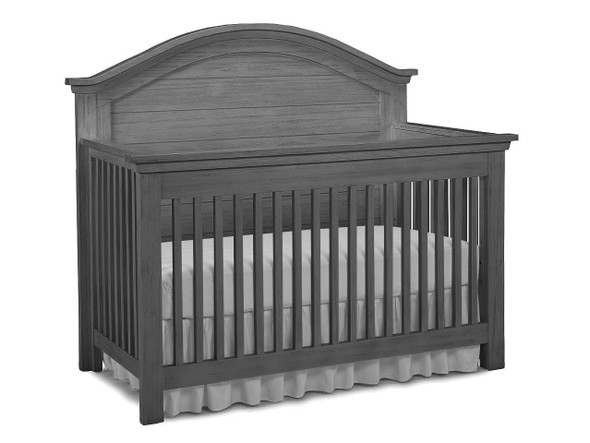 Dolce Babi Lucca Full Panel Convertible Crib in Weathered Grey