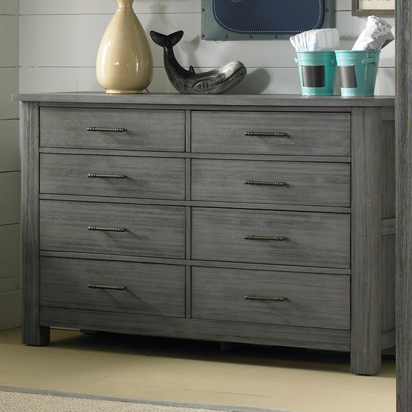 Dolce Babi Lucca 8 Drawer Dresser in Weathered Grey