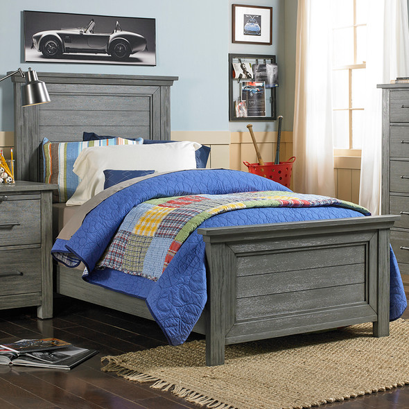 Dolce Babi Lucca Twin Size Bed in Weathered Grey by Bivona & Company