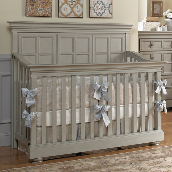 Dolce Babi Serena Full Panel Convertible Crib in Saddle Grey