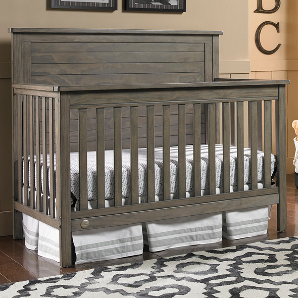 Fisher Price Quinn Full Panel Convertible Crib in Vintage Grey