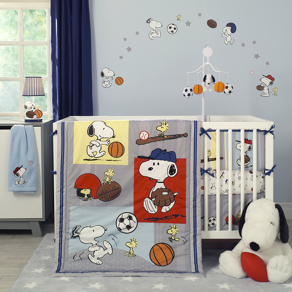 Bedtime Originals Snoopy Sports 3 Piece Bedding Set