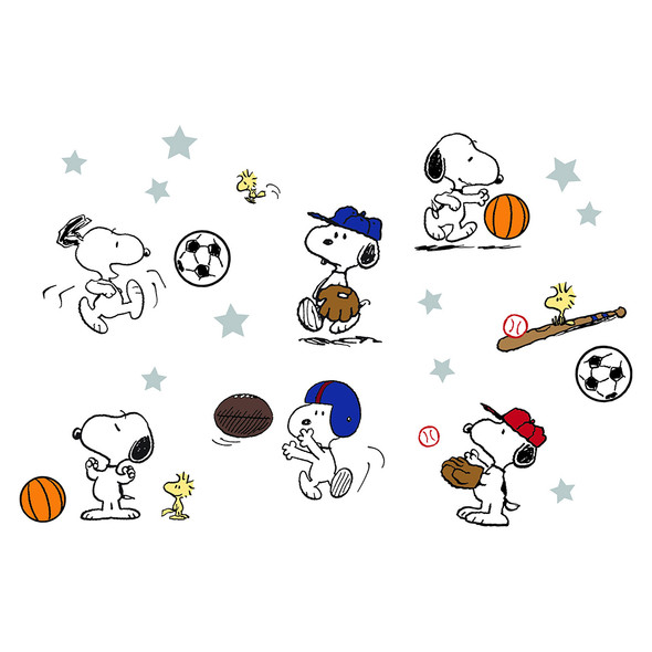 Bedtime Originals Snoopy Sports Wall Appliques