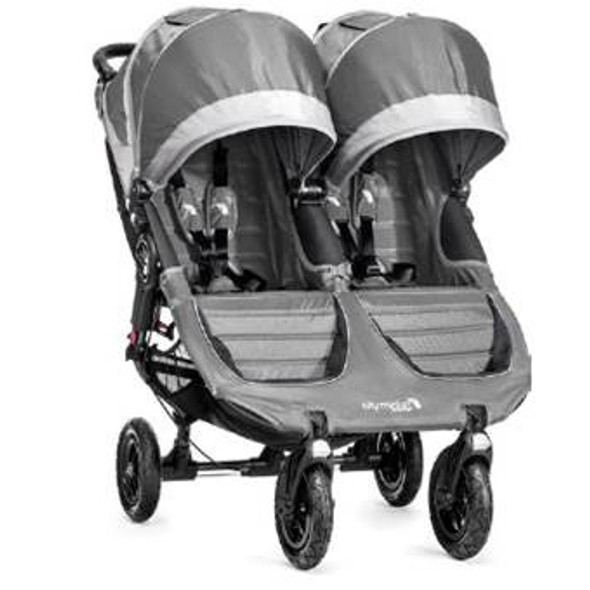 Baby Jogger City Mini GT Double Stroller in Steel Gray