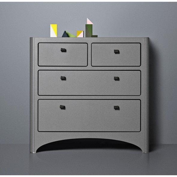 Tulip Leander 4 Drawer Dresser in Grey