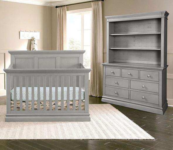Westwood Pine Ridge 3 Piece Nursery Set in Cloud with Crib, DD, and Hutch