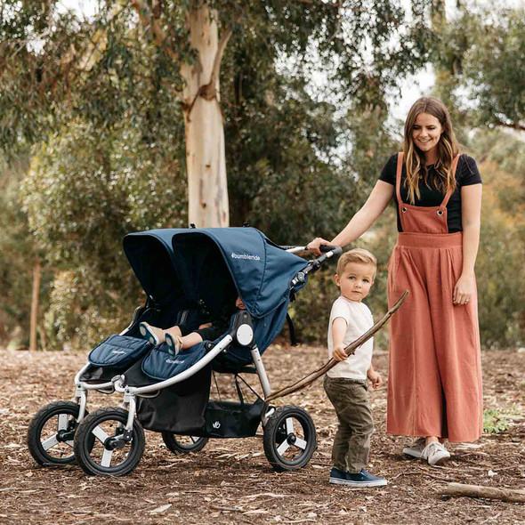 Bumbleride Indie Twin Stroller in Matte Black