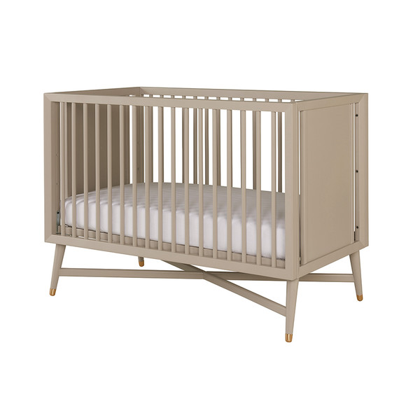 DwellStudio Mid Century Crib in French Grey