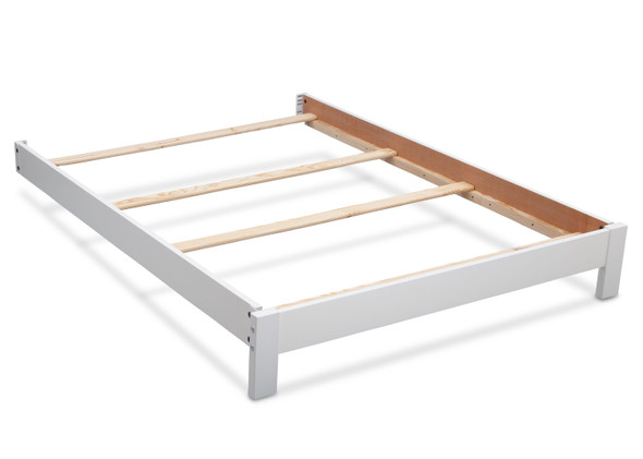 Serta Platform Full Size Bed Kit in Bianca