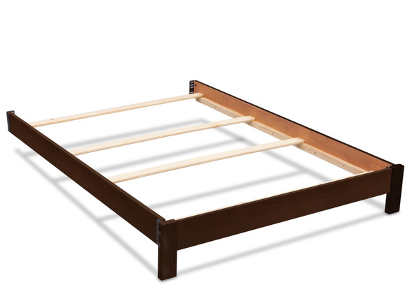 Serta Platform Full Size Bed Kit in Rustic Ebony
