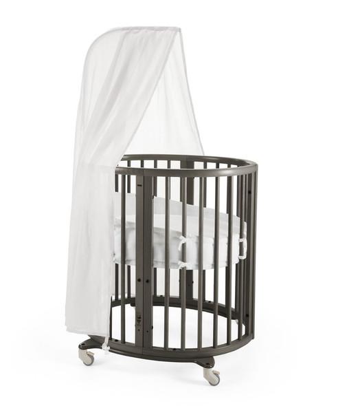 Stokke Sleepi Mini Bundle in Hazy Grey(Mini with Drape Rod; mattress included)
