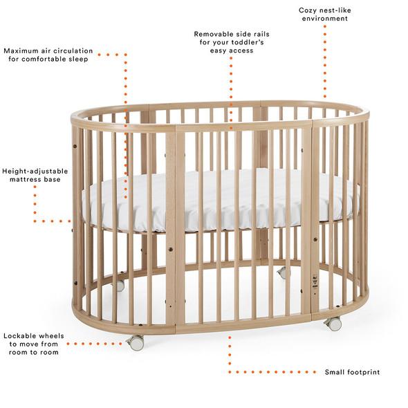 Stokke Sleepi Crib/Bed in Hazy Grey
