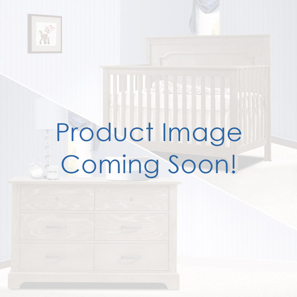 Nest Emerson Collection 2 Piece Nursery Set Crib with Talc Upl. Panel and Double Dresser in White