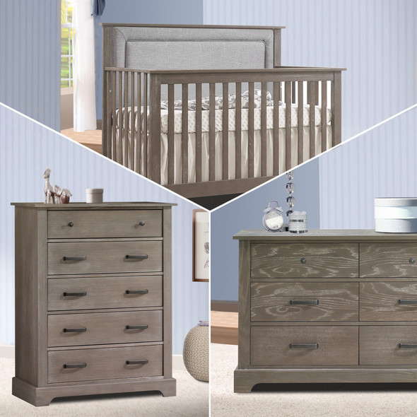 Nest Emerson Collection 3 Piece Nursery Set with Fog Upl. Panel in Owl