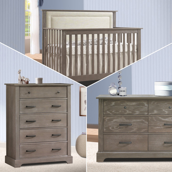 Nest Emerson Collection 3 Piece Nursery Set with Talc Upl. Panel in Owl
