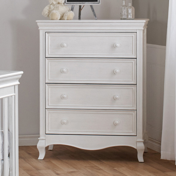 Pali Diamante 4 Drawer Dresser in Vintage White