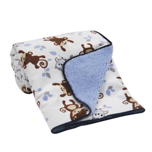 Bedtime Originals Mod Monkey Sherpa Blanket