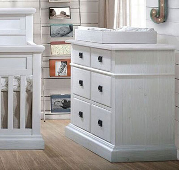 Natart Cortina Double Dresser in White Chalet