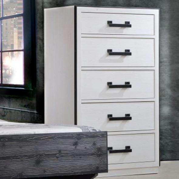 Natart Sevilla 5 Drawer Dresser in White Chalet
