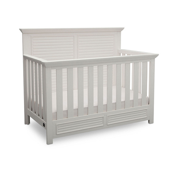 Simmons Oakmont Convertible Crib in Rustic Bianca