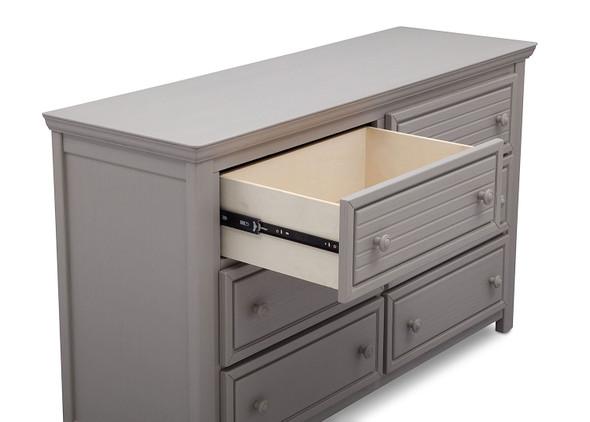 Simmons Oakmont 6 Drawer Dresser in Rustic Haze
