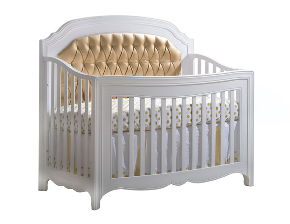 Natart Allegra Gold Collection 2 Piece Nursery Set Crib and 3 Drawer Dresser