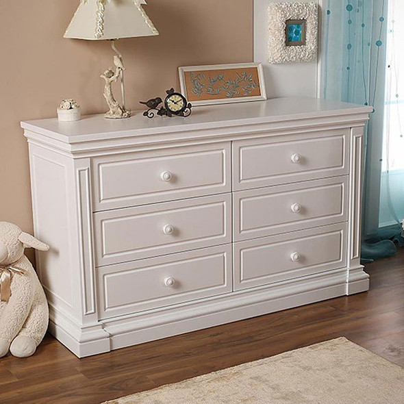 Silva Jackson 6 Drawer Dresser in White