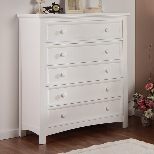 Silva Serena 5 Drawer Chest in White