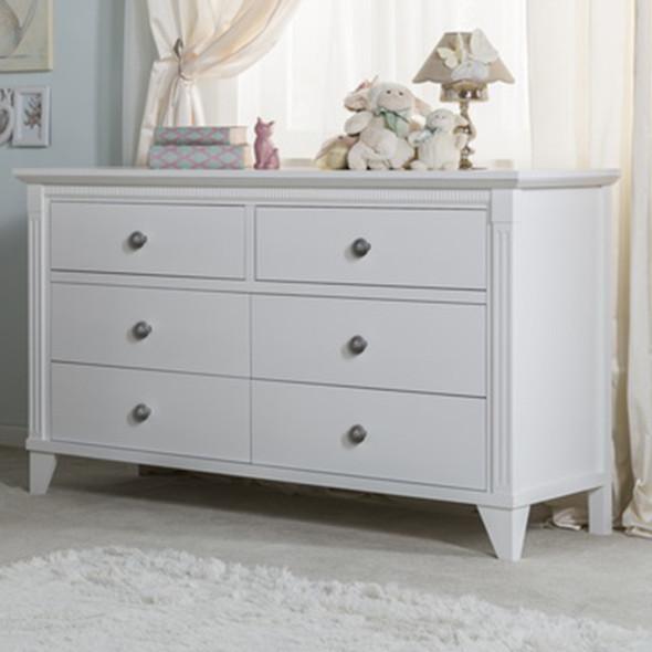 Silva Edison 6 Drawer Dresser in White