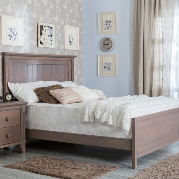 Silva Edison Full Size Bed with Low Footboard in Cappuccino